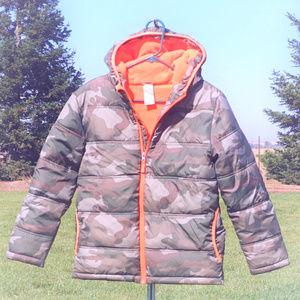 Like new Faded Glory boy's hooded jacket L